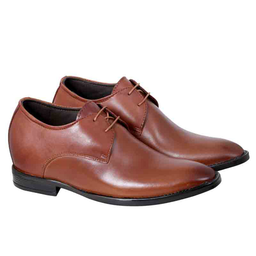 Elevato Height Increasing Brown Leather Shoes