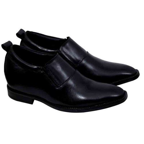 Elevato Height Increasing Leather Slip on Shoes