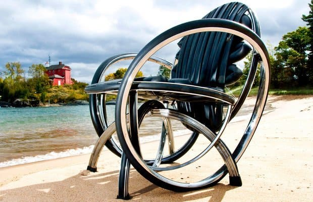 Andy Gregg Recycled Bicycle Furniture, Recycled Bike Furniture