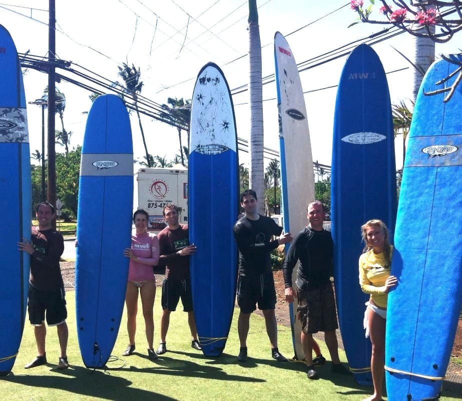 surf lesson in Hawaii