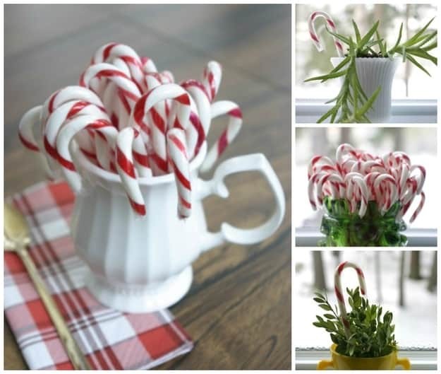 candy cane decorations for christmas