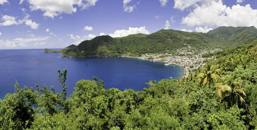 Soufriere from Vieux Fort Highway