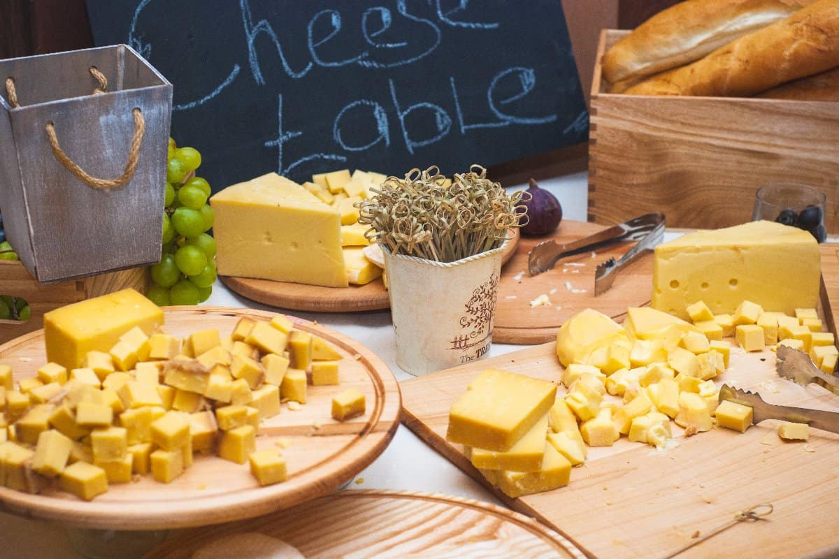 Cheese board - various types of cheese composition for buffet