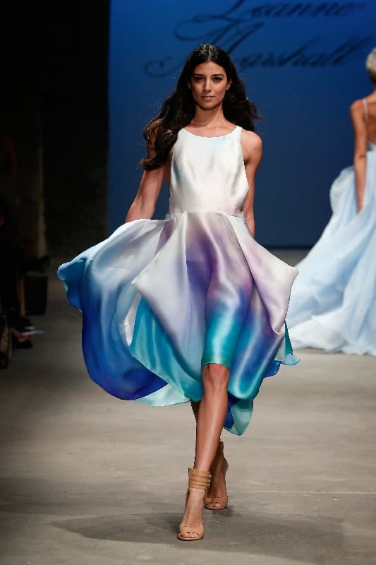 NEW YORK, NY - SEPTEMBER 10:  A model walks the runway at the Leanne Marshall fashion show during Spring 2016 New York Fashion Week: The Shows at Art Beam on September 10, 2015 in New York City. on September 10, 2015 in New York City.  (Photo by Brian Ach/Getty Images for Leanne Marshall Designs)
