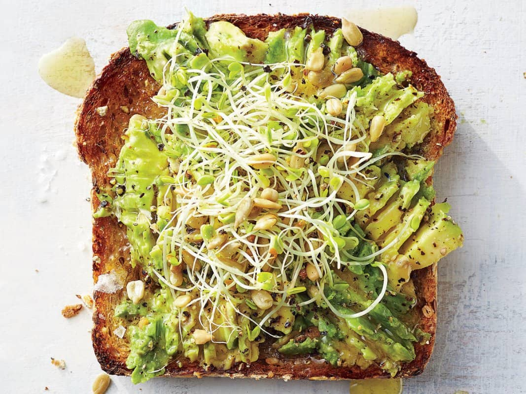 avocado sprout toast