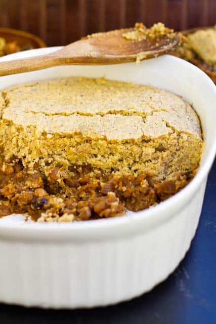 maple pumpkin polenta casserole vegan