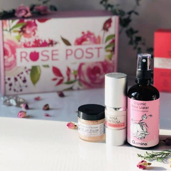 natural rose beauty products