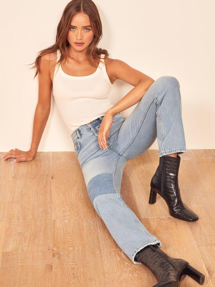 Reformation Cynthia Patch High Rise Jean