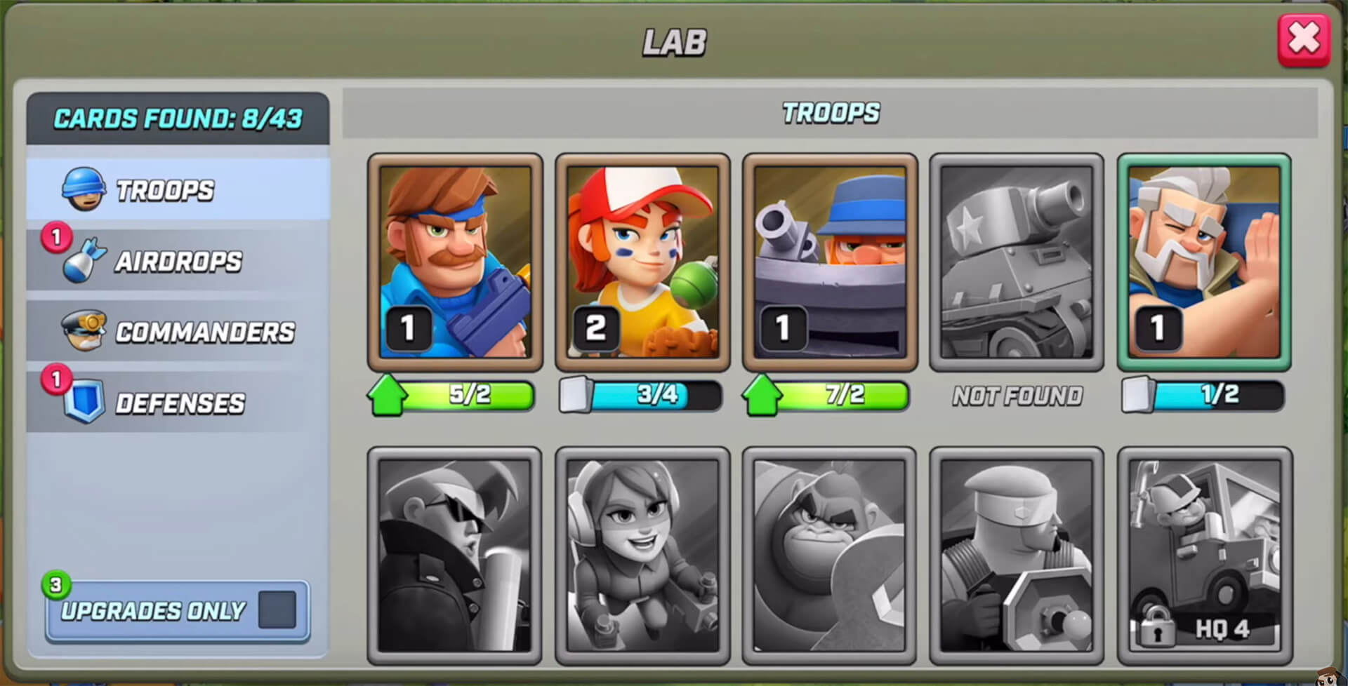the lab in rush wars