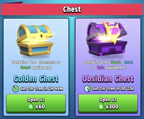 chests archero