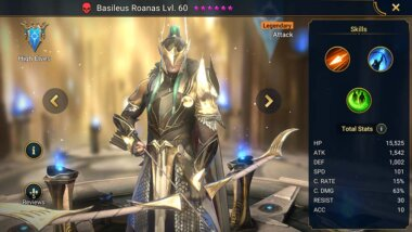 Raid Shadow Legends Basileus Roanas