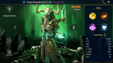 Crypt-King Graal Guide: Skills, Best Gears & Masteries