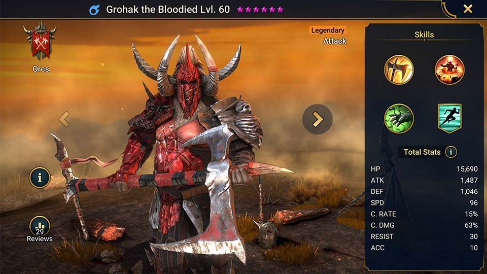 Raid Shadow Legends Grohak the Bloodied