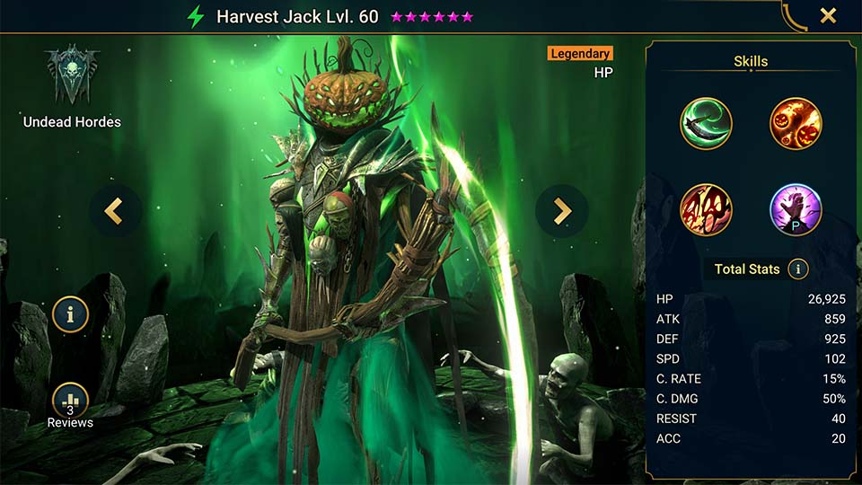 Raid Shadow Legends Harvest Jack