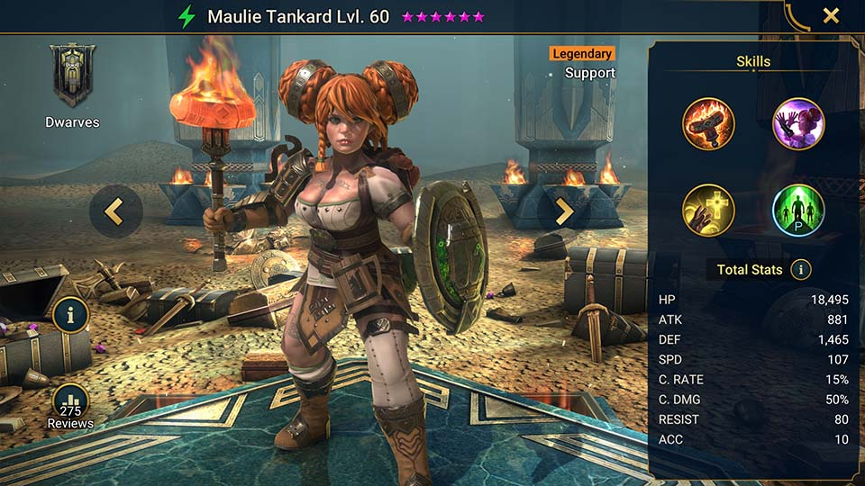 Raid Shadow Legends Maulie Tankard