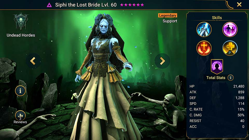 Raid Shadow Legends Siphi the Lost Bride