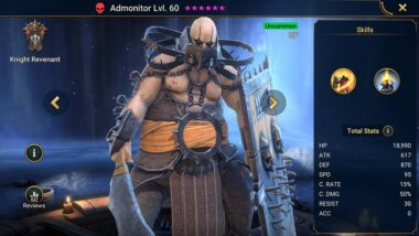 Admonitor Guide: Skills, Best Gears & Masteries