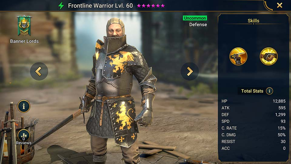 Frontline Warrior Raid Shadow Legends