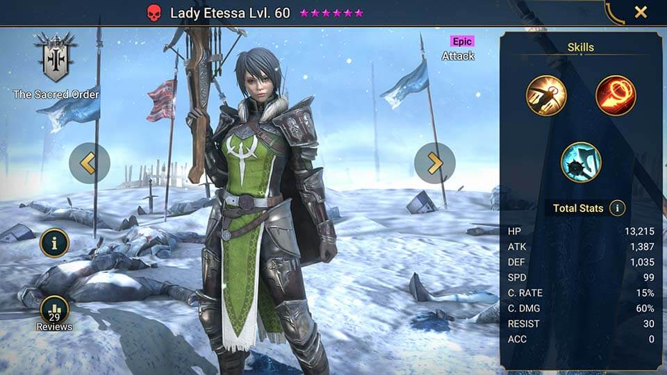 Raid Shadow Legends Lady Etessa