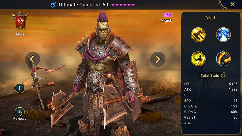 Raid Shadow Legends Ultimate Galek
