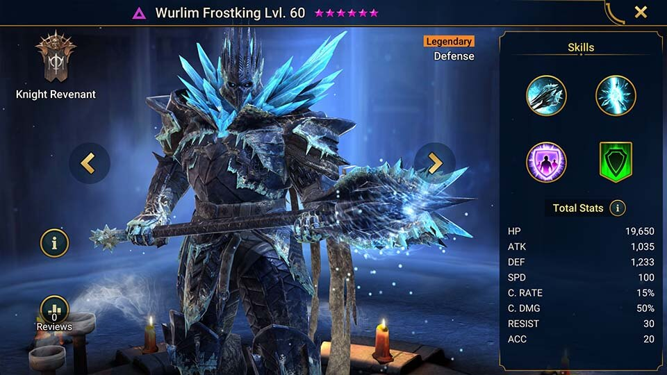 Raid Shadow Legends Wurlim Frostking