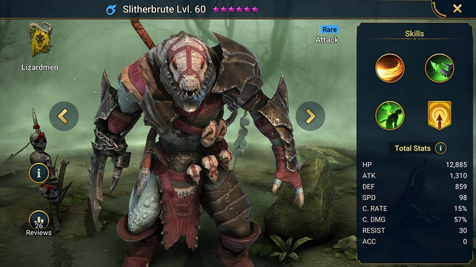 Slitherbrute Raid Shadow Legends