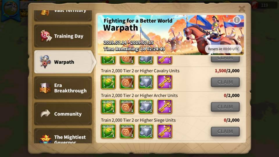 Rise of Kingdoms Warpath
