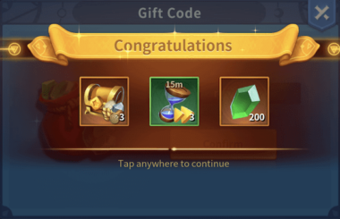 infinity kingdom gift code rewards