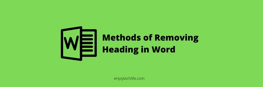 Removing Heading in Word