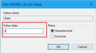 Change the Value Data
