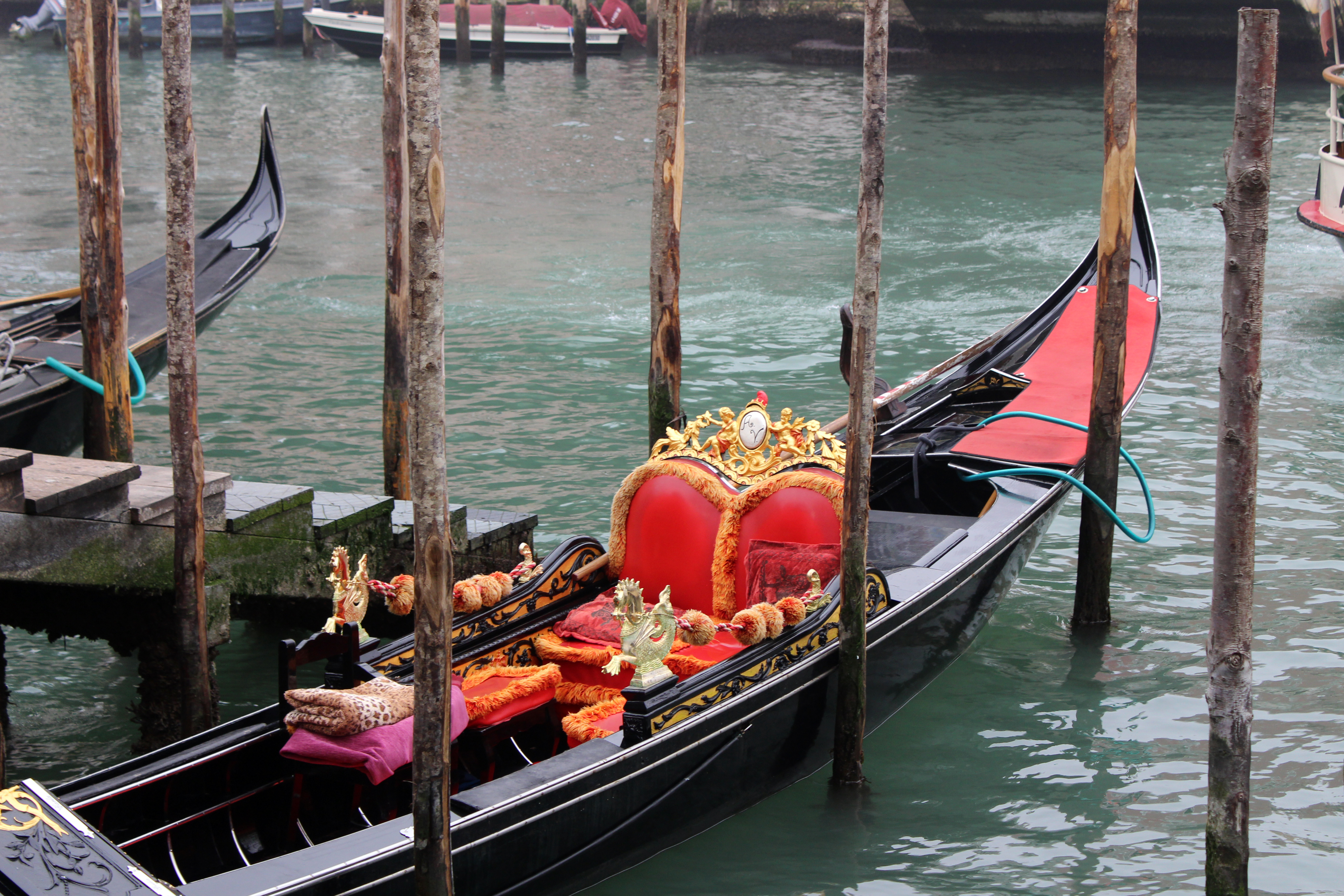 Gondola on the Grand Canal in Venice Italy