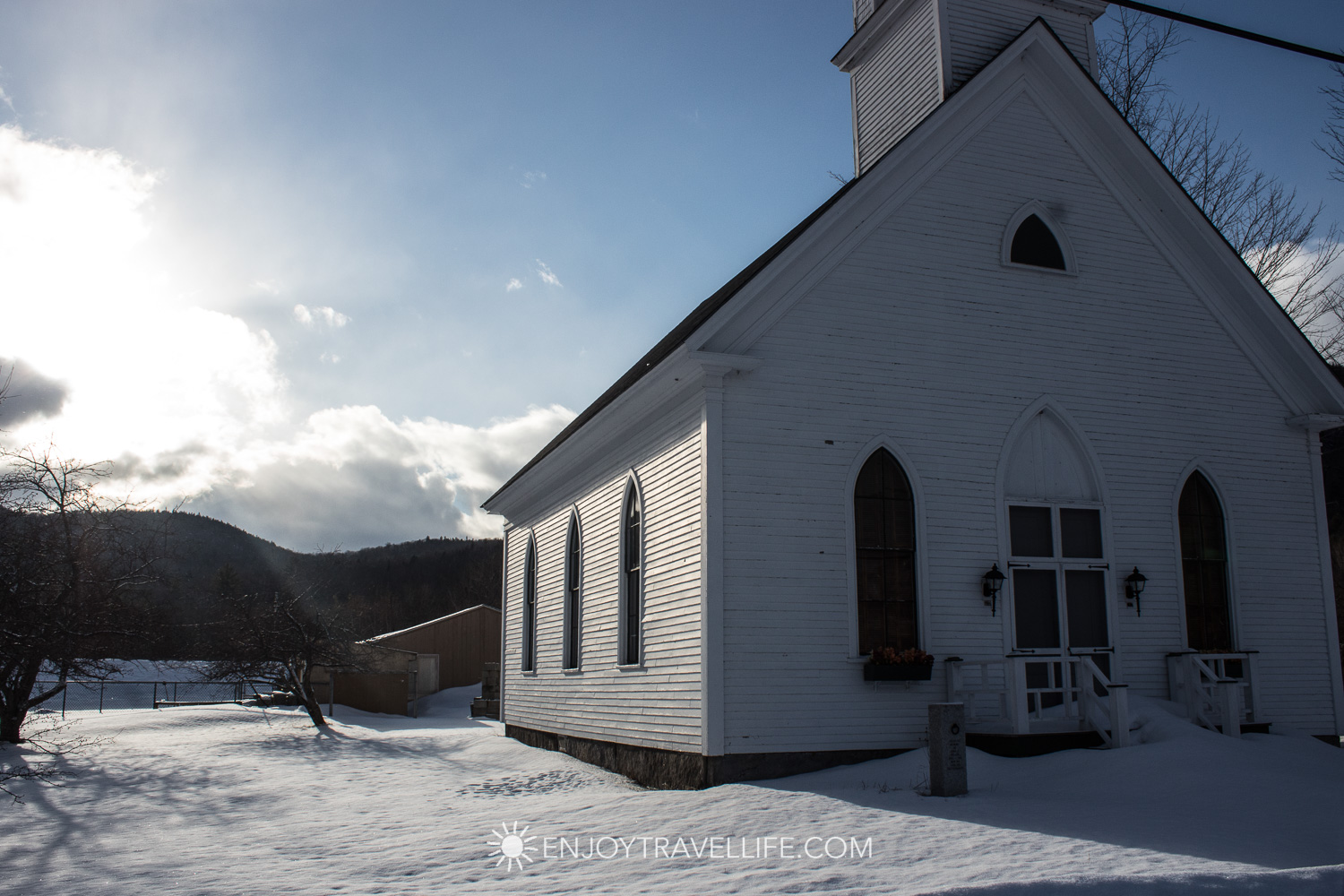 Winter in Bethel Maine | Shelburn Union Church | New Hampshire