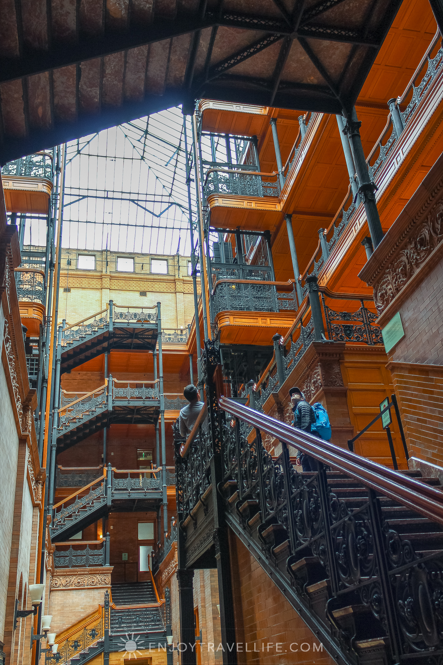 The Bradbury Building Los Angeles - Hollywood superstar and architectural landmark interior