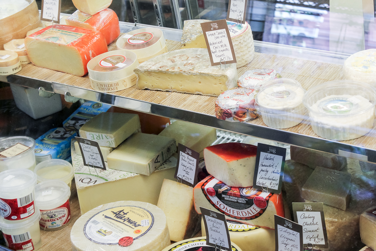 The Brown Jug in Sandwich gourmet cheeses
