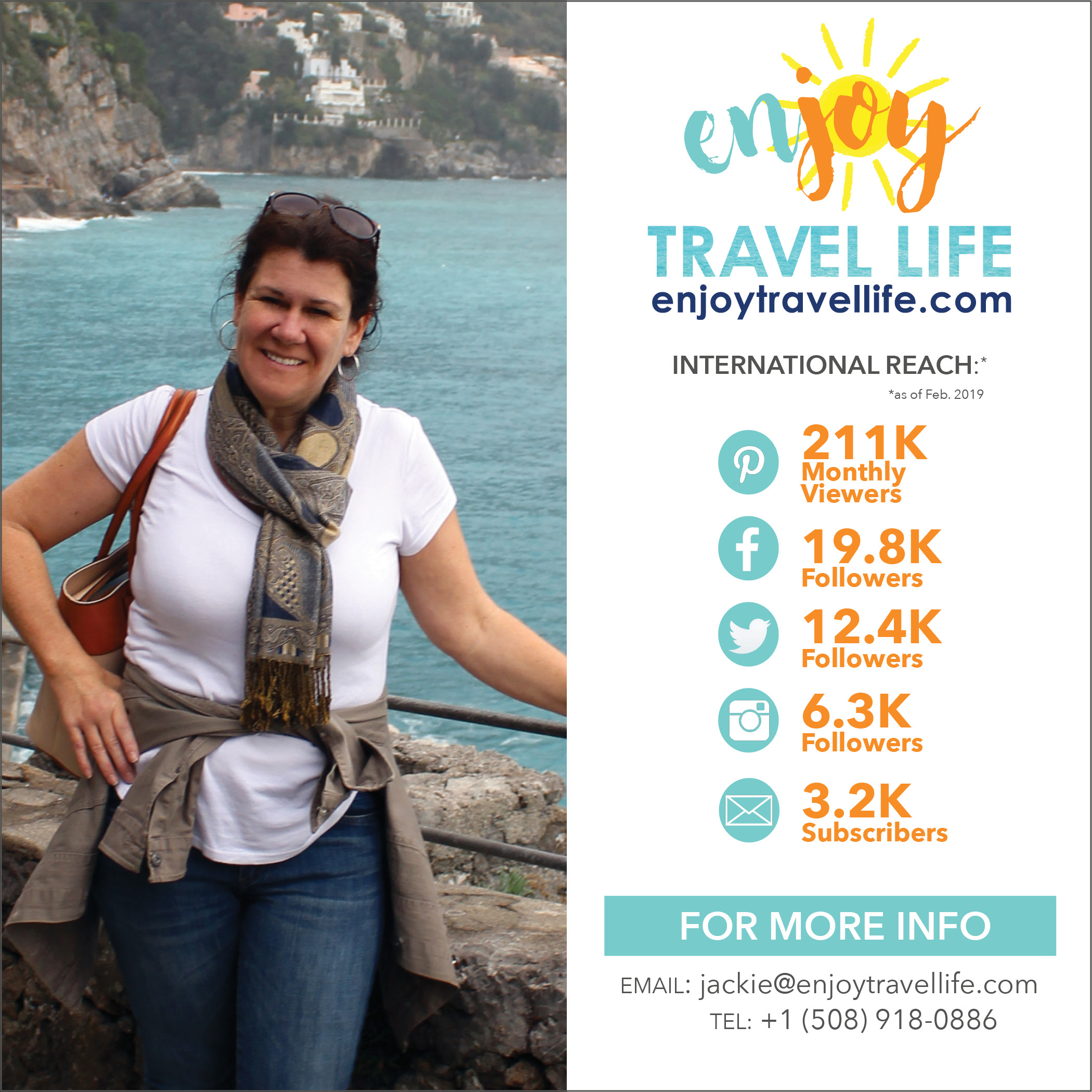 Enjoy Travel Life Blog Reach Jackie Gately Travel Writer