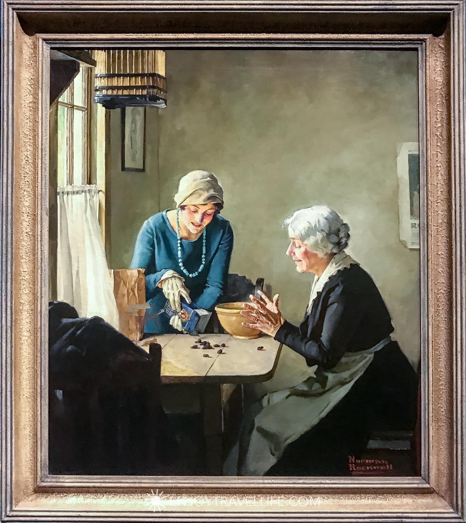 Norman Rockwell Museum in Stockbridge Ma painting