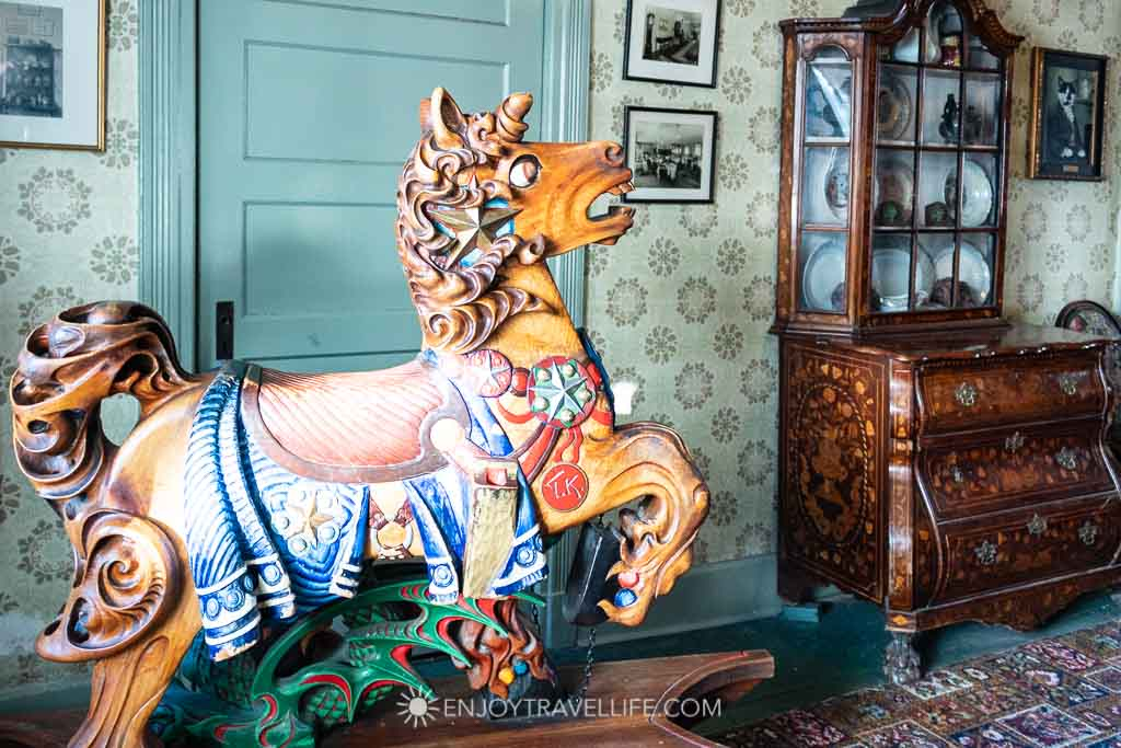 Red Lion Inn History - Vintage Wooden Rocking Horse Toy
