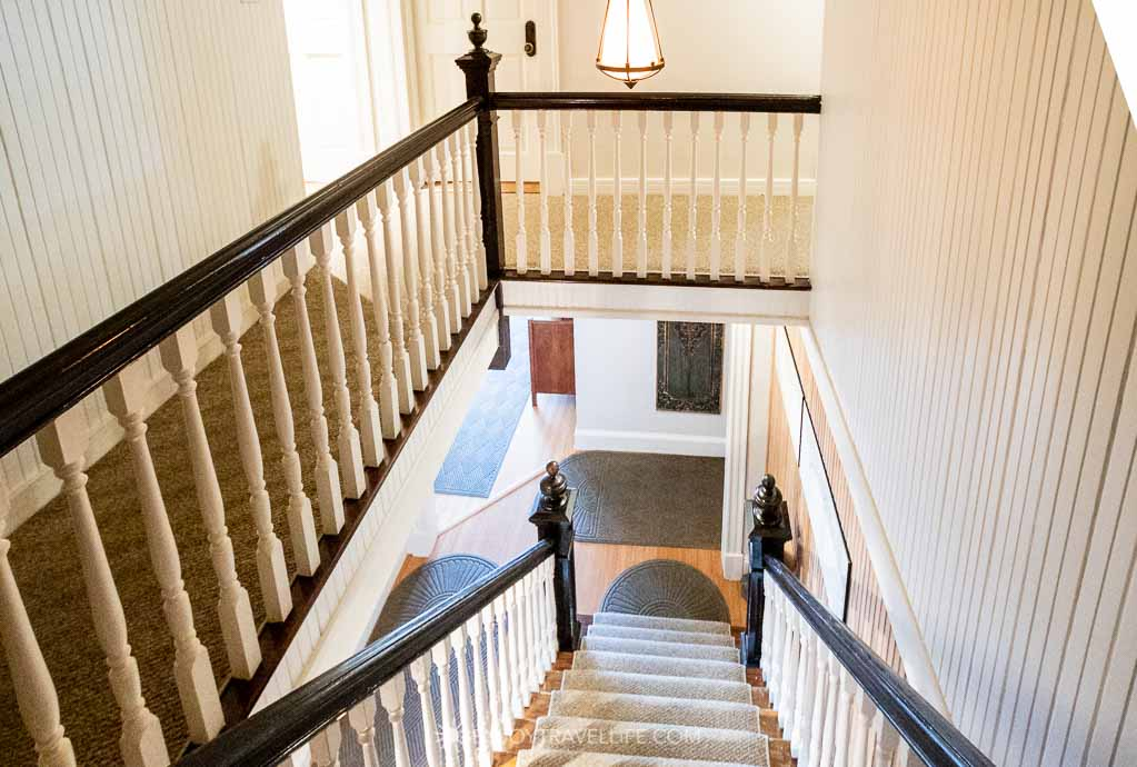 Historic staircase remains at Inn on the Sound at Falmouth B&B