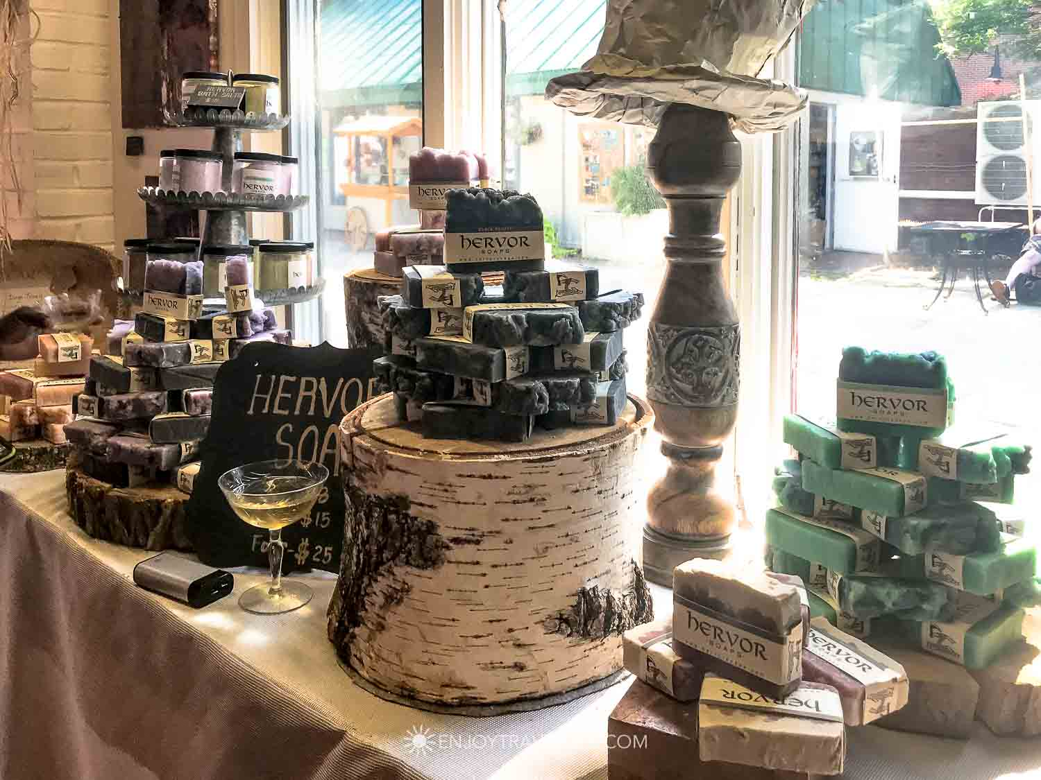 Hervor soaps at Grace & Diggs, Salem MA
