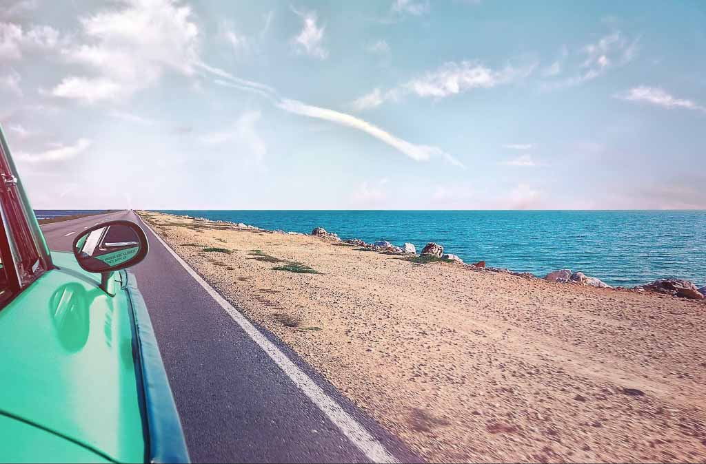 Road Trip as a Vacation Option, driving along the coast
