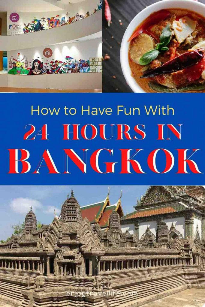 How to have fun with 24 Hours in Bangkok / Enjoy Travel Life (Pin Cover)