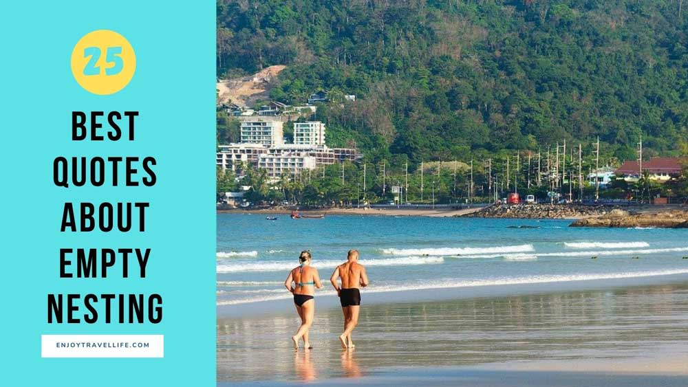 25 Empty-Nesting Quotes That Will Inspire You. Middle-age, athletic couple running on beach.