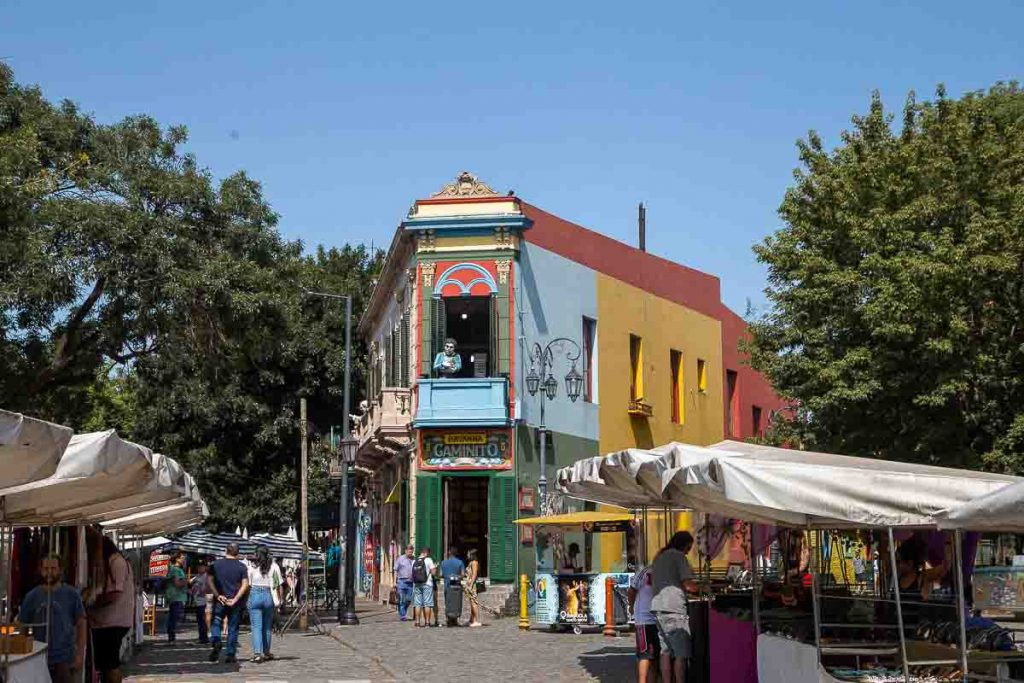 Buenos Aires in Argentina is an affordable country for US citizens living abroad (shown, colorful city markets)