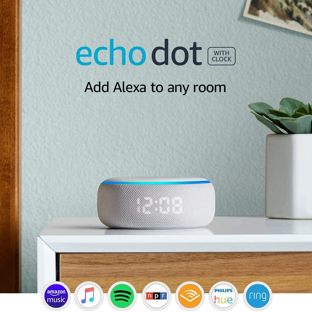 The Echo Dot 3rd generation.