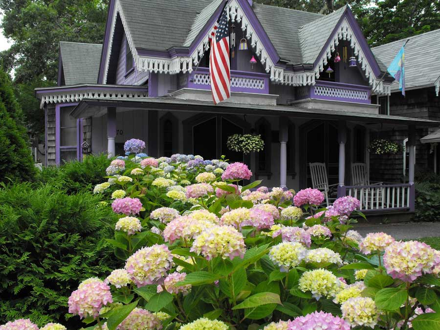 Purple Victorian House on Martha's Vineyard - Review of How to Keep a Secret (book)