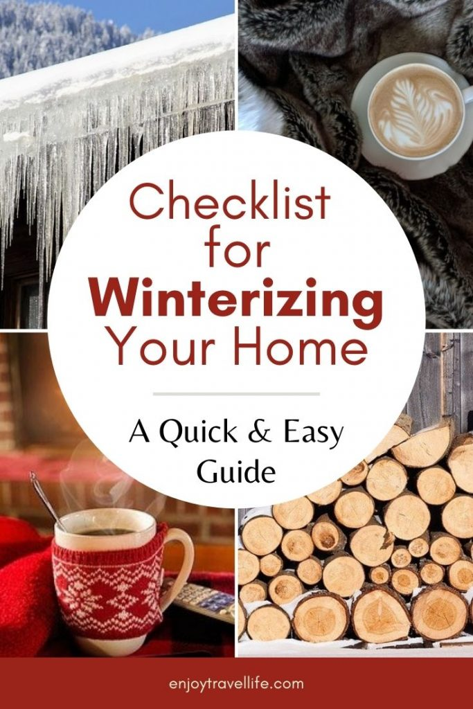 Checklist for Winterizing Your Home, A quick and easy guide with free printable checklist (Pinterest Pin)