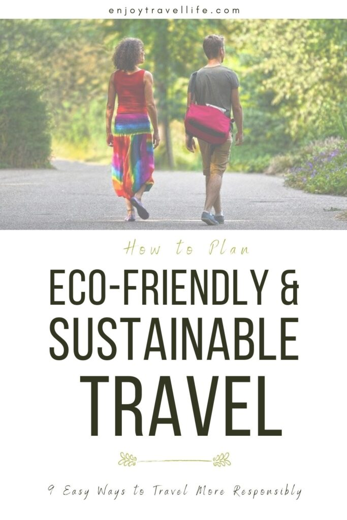 sustainable eco-friendly travel pinterest pin