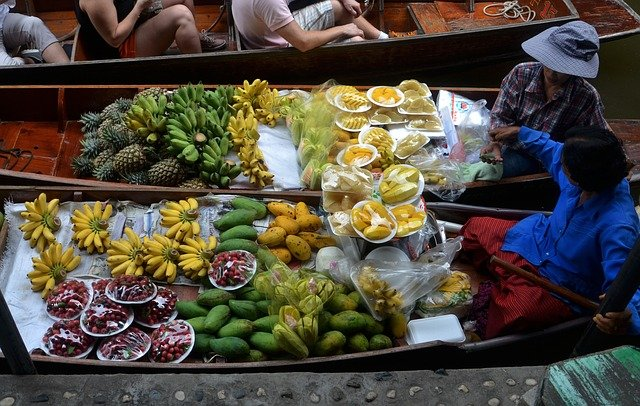sustainable eco-friendly travel - local produce sold by boat