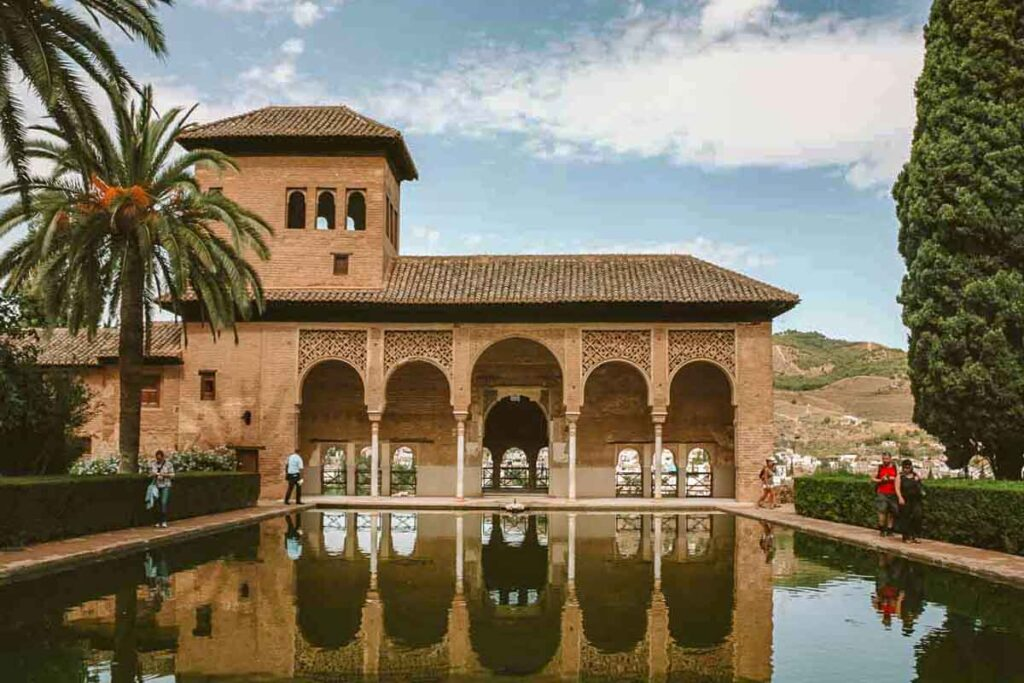 The pool and gardens of the Alhambra