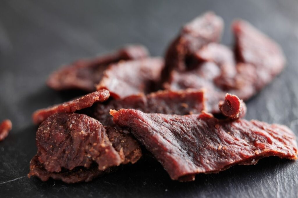 Beef jerky - great to bring on a road trip